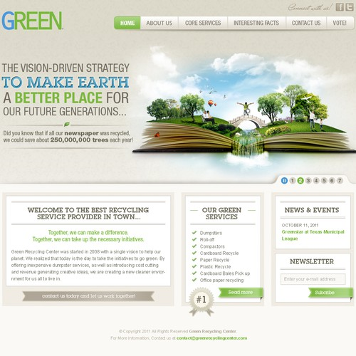 New website design wanted for Green Recycling Center
