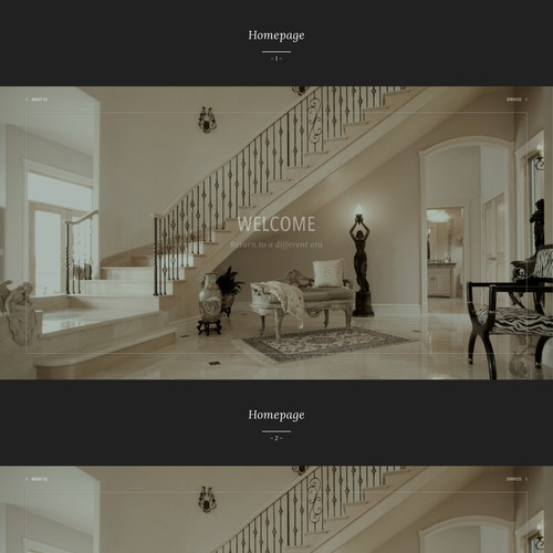 Web page design for Project YX