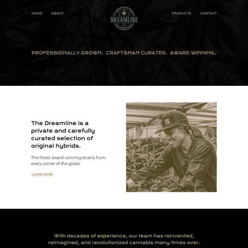 Website for Cannabis Brand