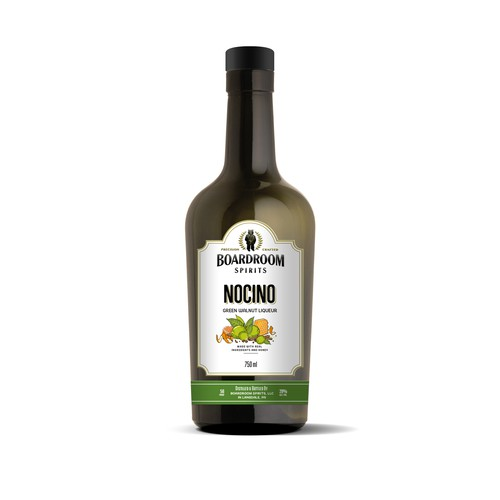 NOCINO label for Boardroom Spirits