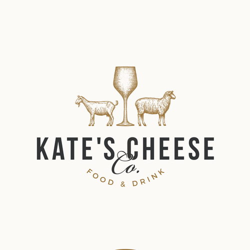 Logo design for a local cheese, wine and beer space