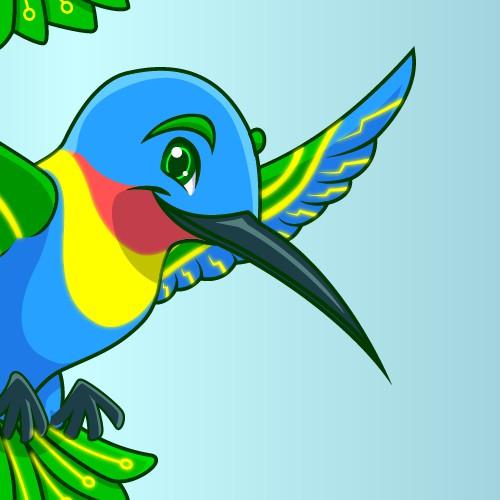 Humming Bird Mascot
