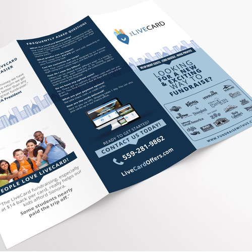 Brochure design for LiveCard