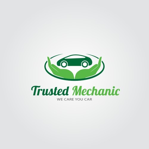 Create an iconic logo for the Trusted Mechanics