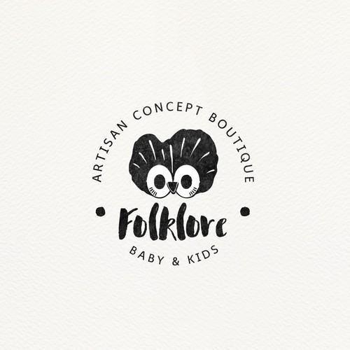 Vintage logo for kids products