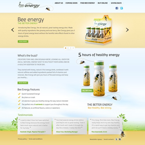 New website design wanted for www.BeeEnergy.net