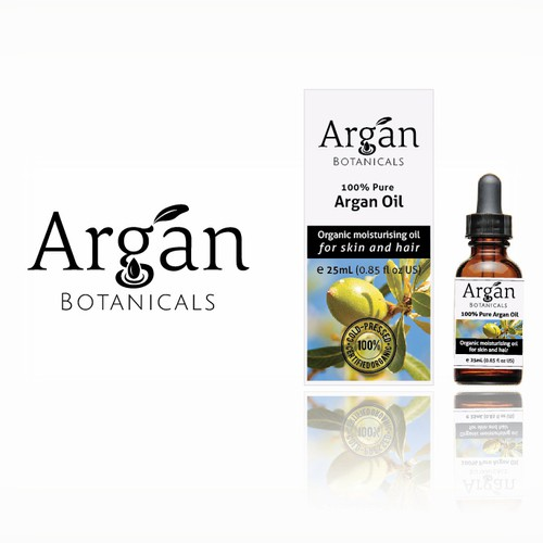 Logo and Packaging Design for Argan Oil Brand