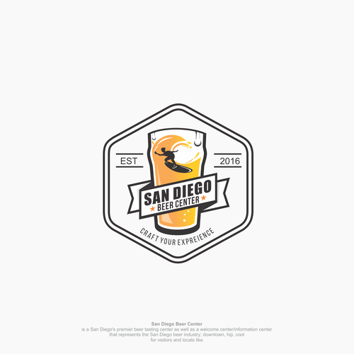 Hip and Cool logo concept for Beer Center