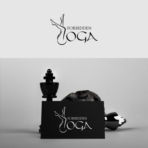 "Design concept for company named ""Forbidden yoga""."