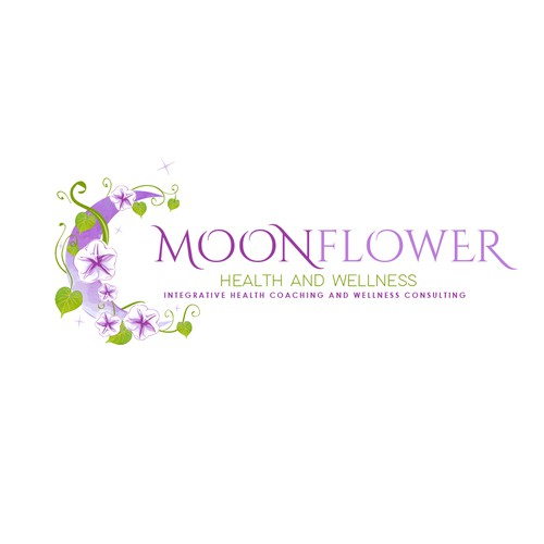 Moonflower logo for Health & wellness consultant