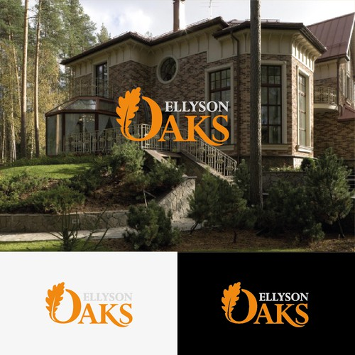"Bad Ass Logo/Brand/Signage for Real Estate Development Project Called ""Ellyson Oaks"""