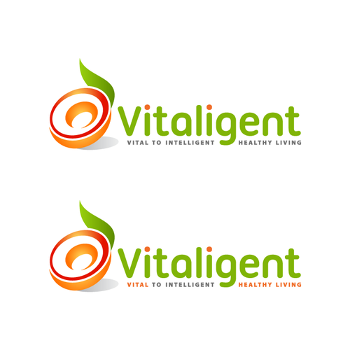 Refreshing and vibrant logo for a Health & Wellness Brand Vitaligent for healthy living