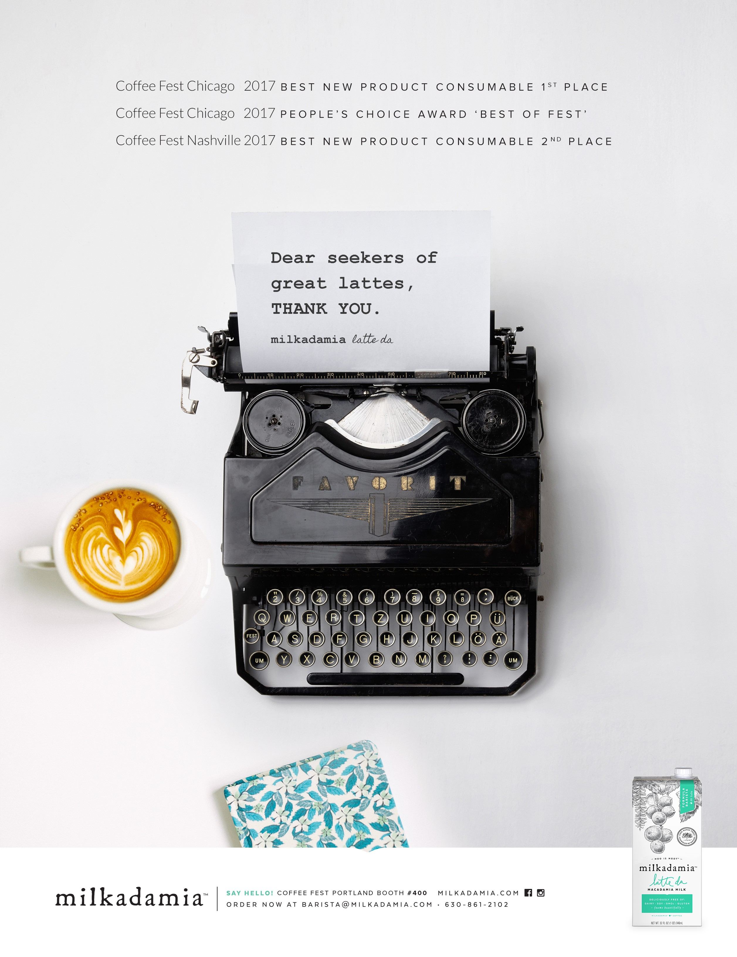 a disruptive coffee-industry specific print magazine ad for a cool, already famous startup beverage brand