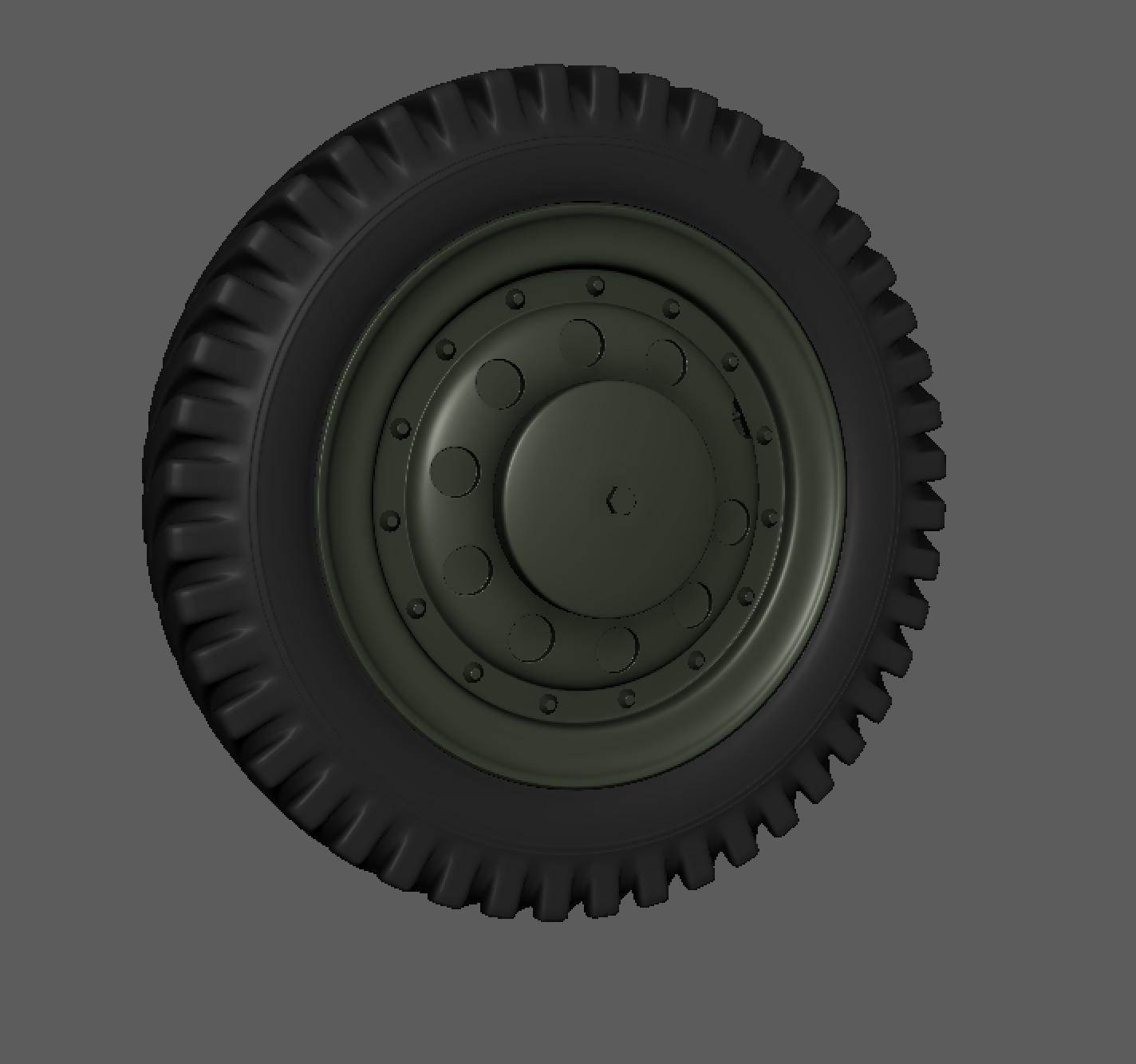 Early Ford Spoke Wheel & Tire