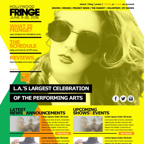 Finalist of The Fringe Festival Website Redesign
