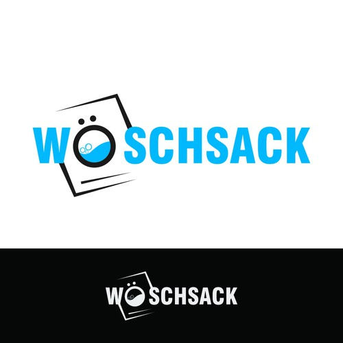 """Logo For a Laundry called """"WOSCHSACK"""""""