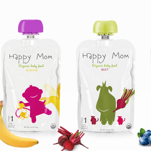 package for a baby food brand