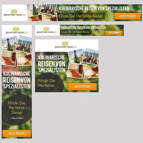 Create a banner for a culinary travel website