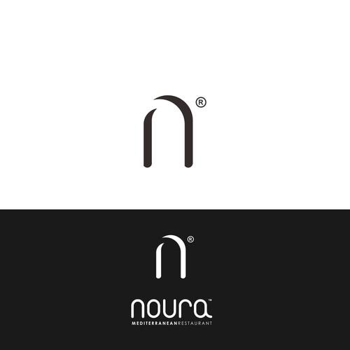 Noura  modern simple logo design.