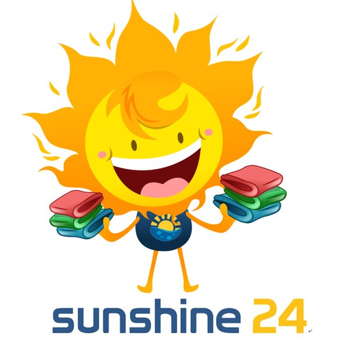 Sun Character for a Laundry Company