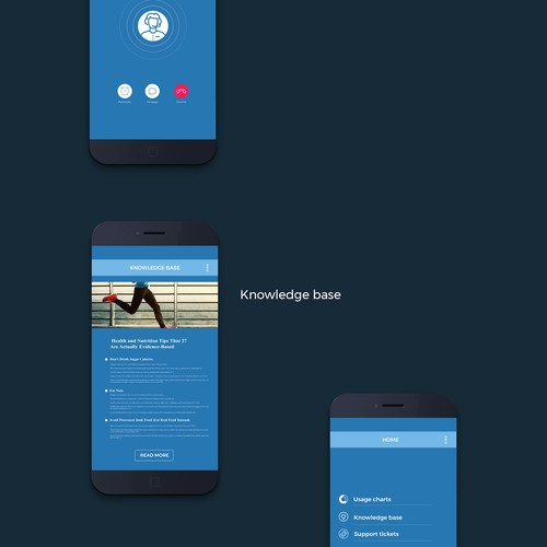 Simple 3 page apps screen UI/UX design