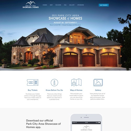 Website design for home showcase / parade
