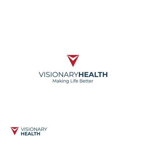 Visionary Health logo design