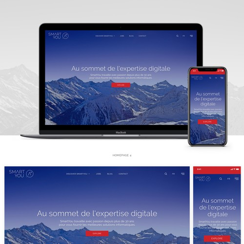 Responsive webdesign for a consulting company