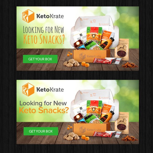 Banner concept for Keto Snacks