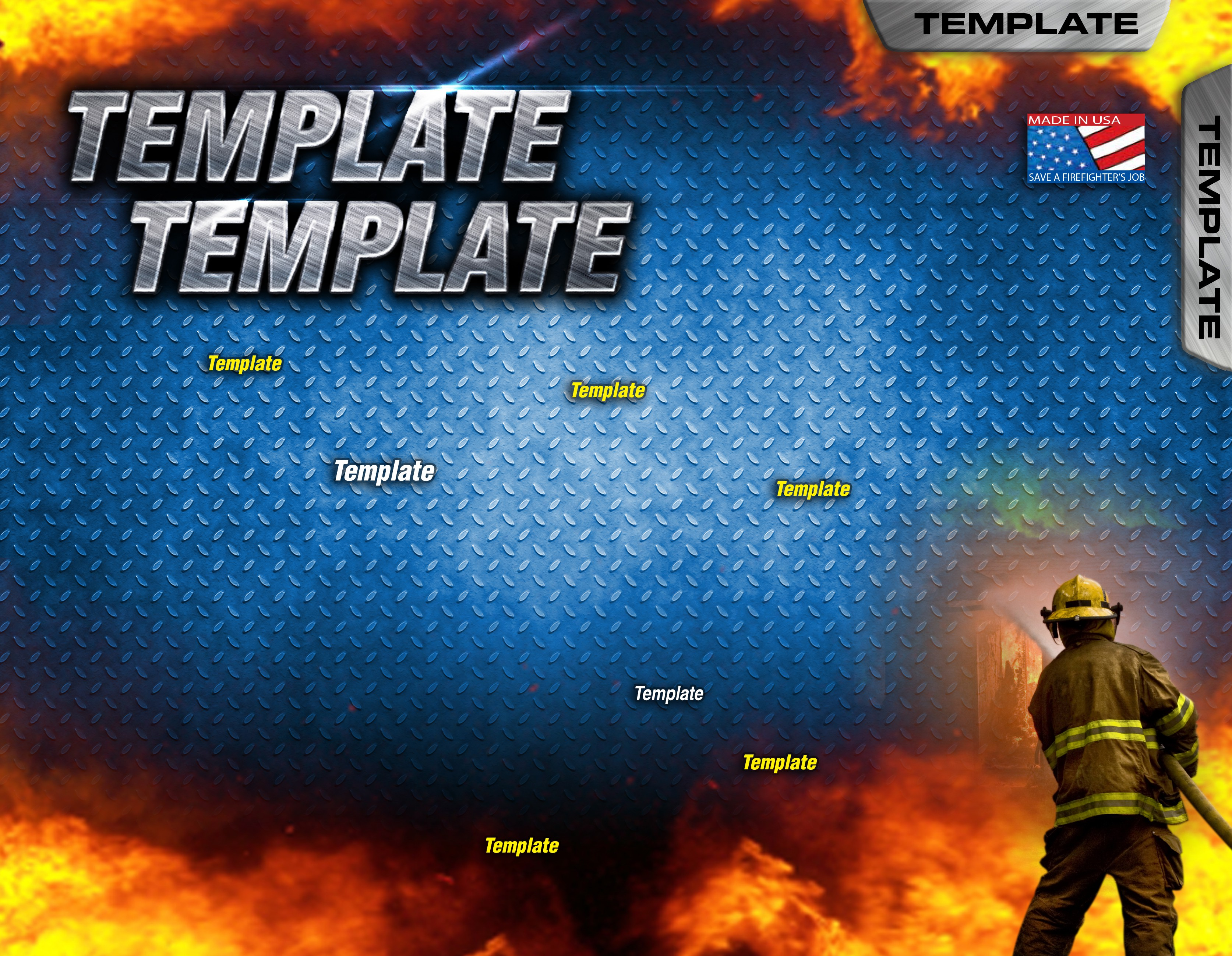 Flyer Template Design for Firefighters