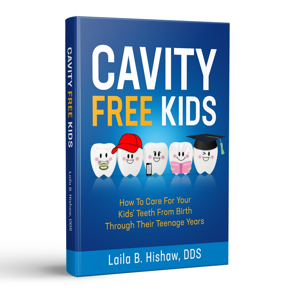 Design an eye catching, fun cover for moms on how to care for their kids' teeth