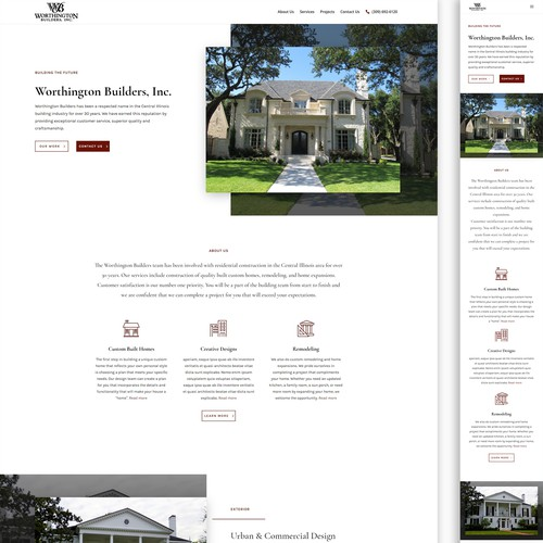 Home Builders Page Design