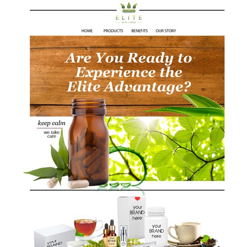 natural healthy web pagedesign for Elite brand