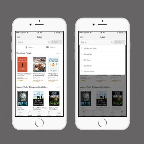 E commerce book app