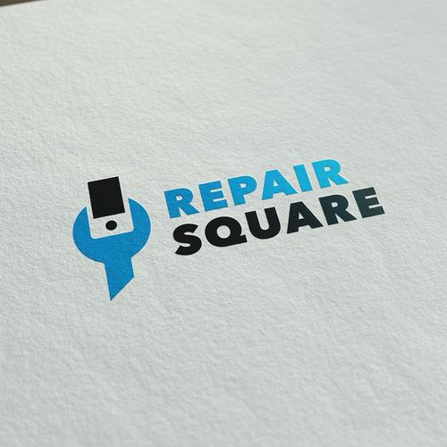 logo for cellphone repair company repairsquare