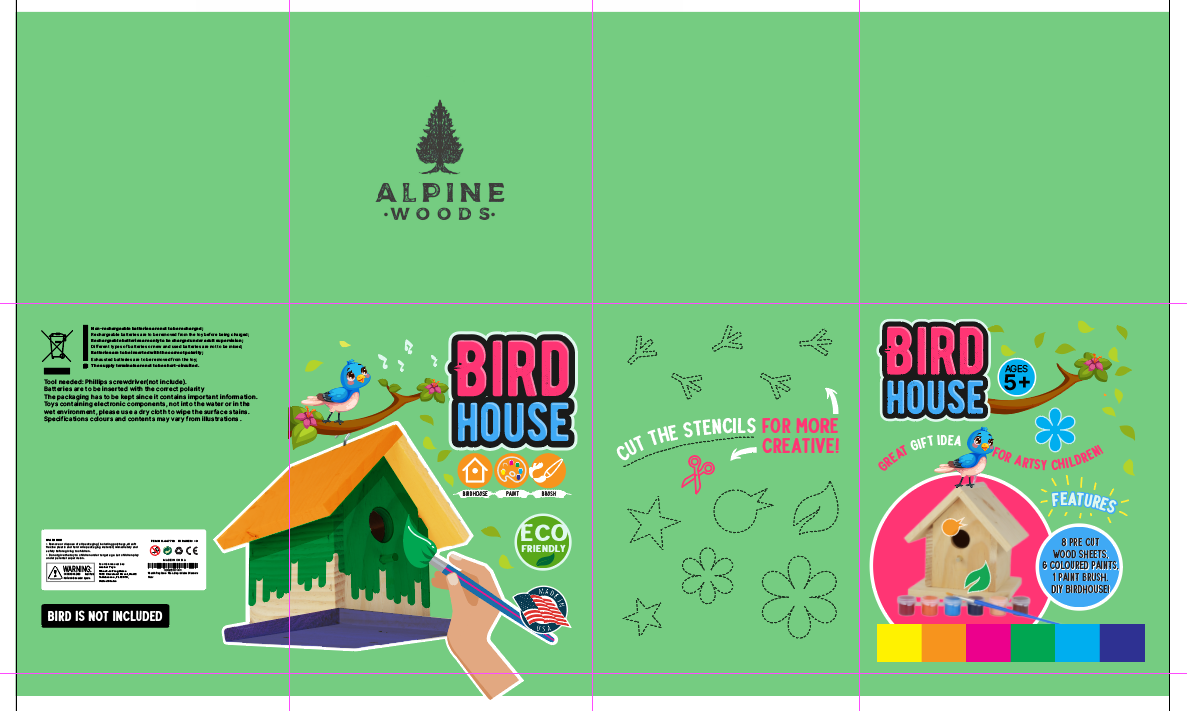 Design a Fun Paint-Your-Own Birdhouse Box