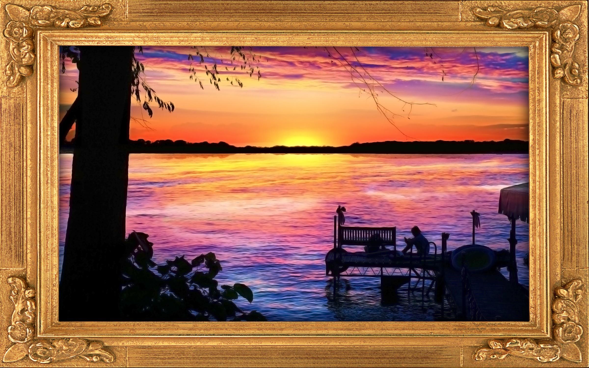 Fox Lake sunset