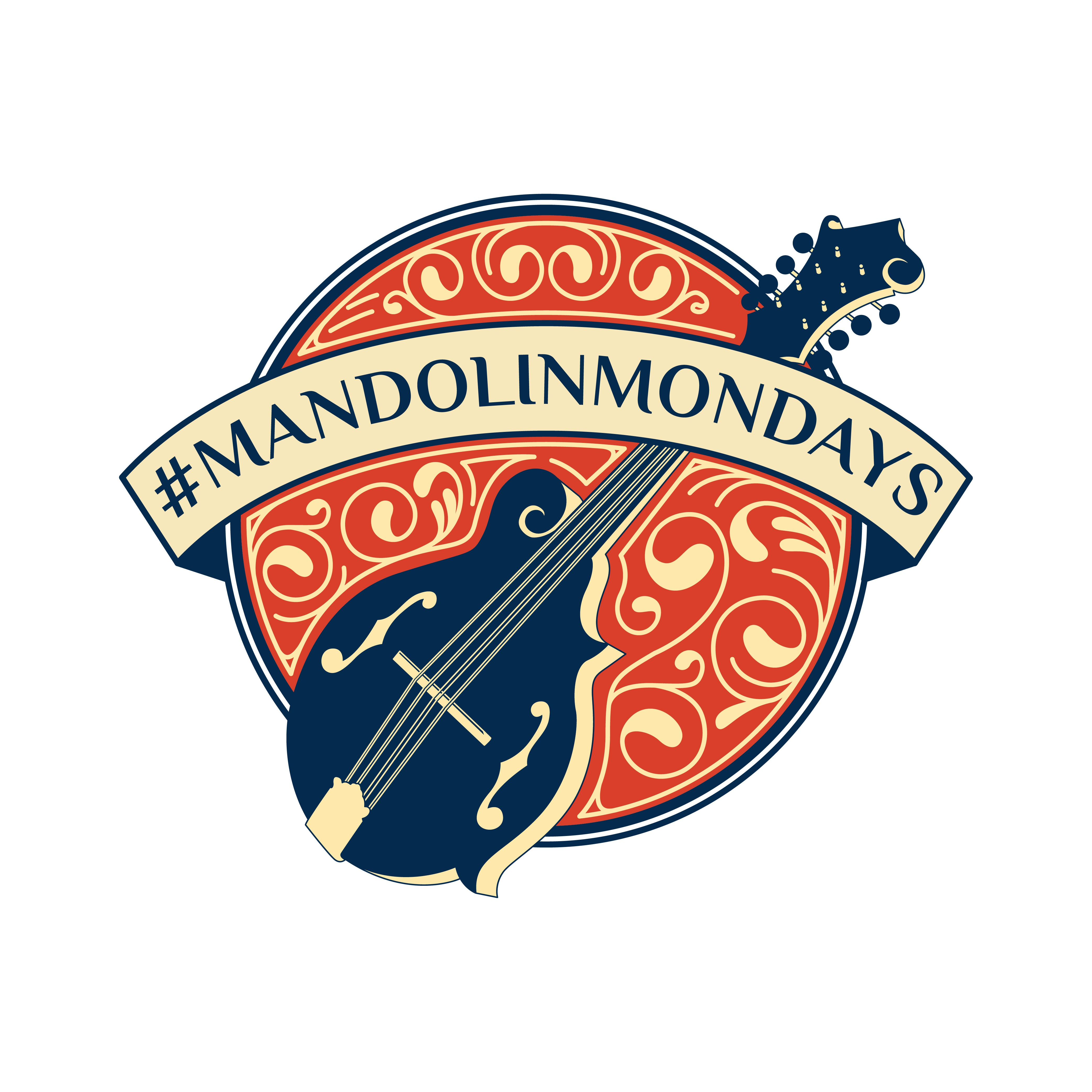 Design a logo for the acoustic music nerd video blog #mandolinmondays