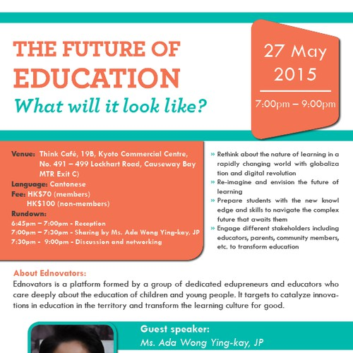 Flyer for Innovations in Education