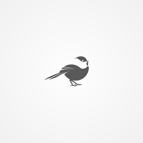 Negative space logo concept for Chickadee Creative