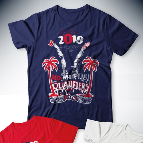 T-Shirt design for AAU Red-White-Blue Qualifiers 2018