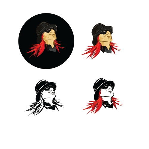 Red Headed Rebel Character Logo