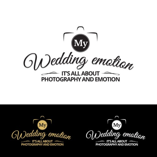 branding logo for a wedding and couple photographer in paris