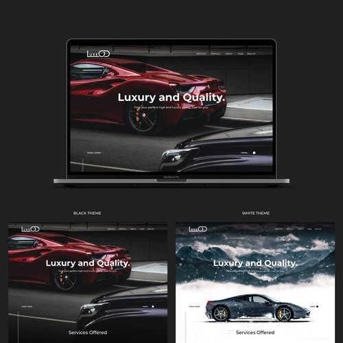Landing Page for high end Luxury Rental Marketplace