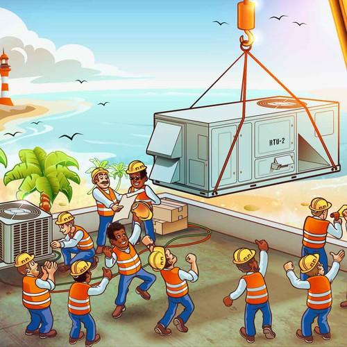 Fun Illustration for Florida A/C Company
