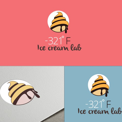 Ice cream company logo design