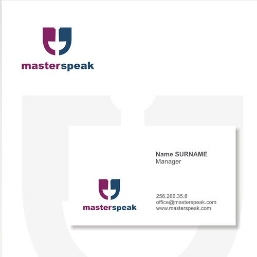 Help MasterSpeak with a new logo