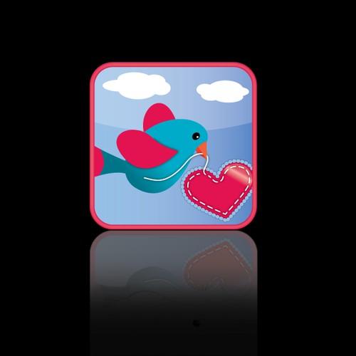 button or icon for Retro Valentines