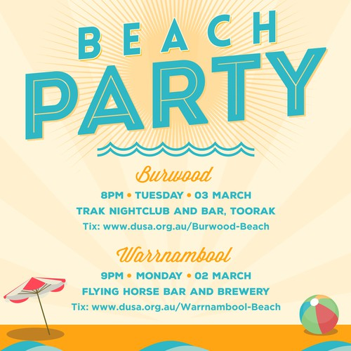 Flyer design for beach party