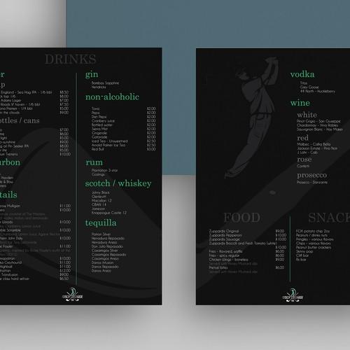 Edgy menu design